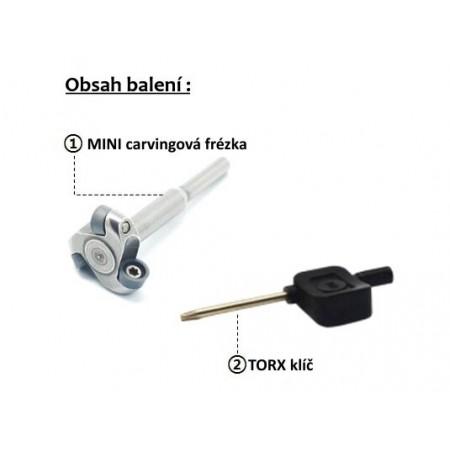 Mini Guľatá 16mm Frézovacia stopka 3,2mm - DCR